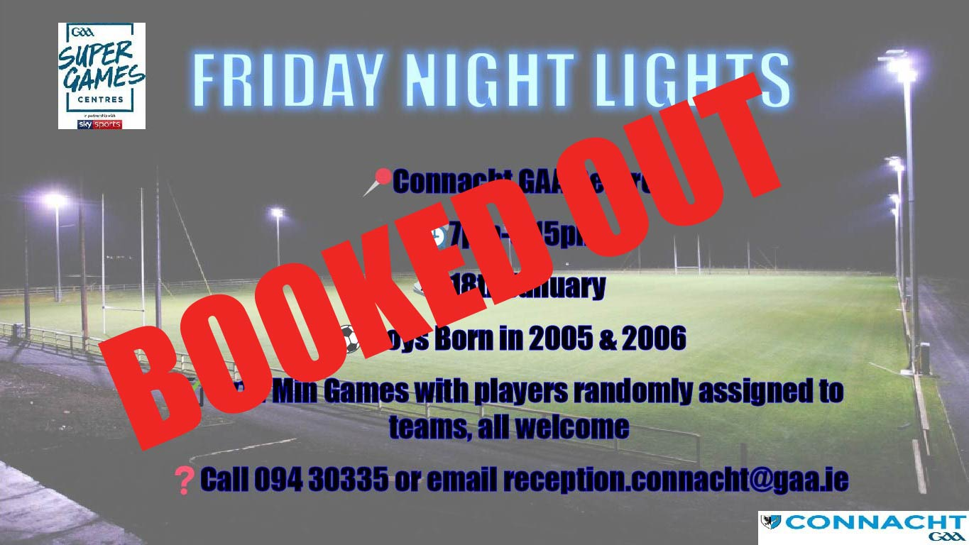 Friday Night Lights 18th Jan now BOOKED OUT